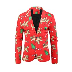 Cartoon Print Casual Leisure Blazer