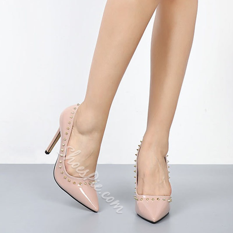 Shoespie Sexy Rivet Thread Pointed Toe Stiletto Heel Thin Shoes