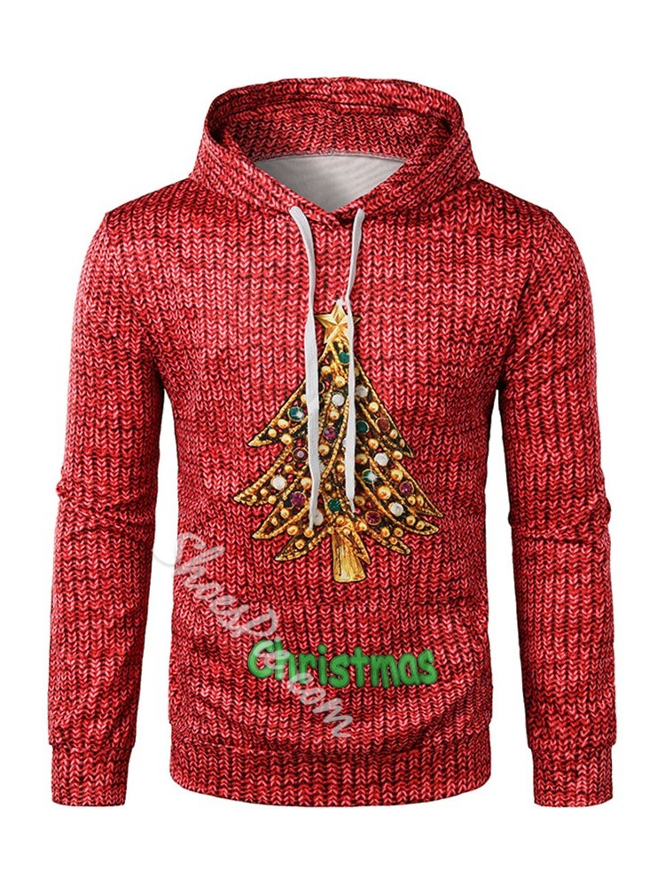 Pullover Thick Print Hooded Winter Hoodies