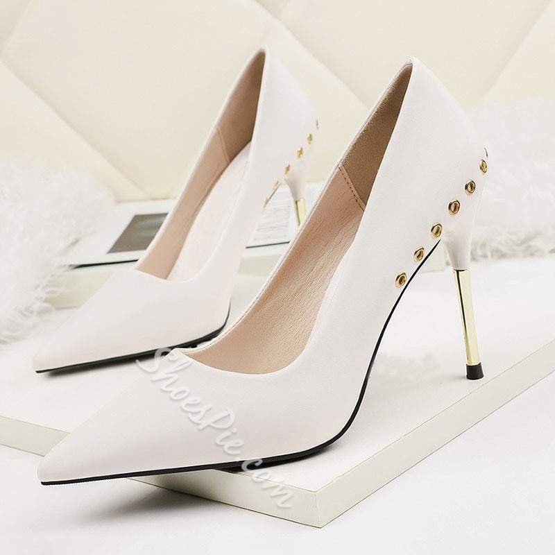 Shoespie Trendy Slip-On Pointed Toe Stiletto Heel Low-Cut Upper Thin Shoes