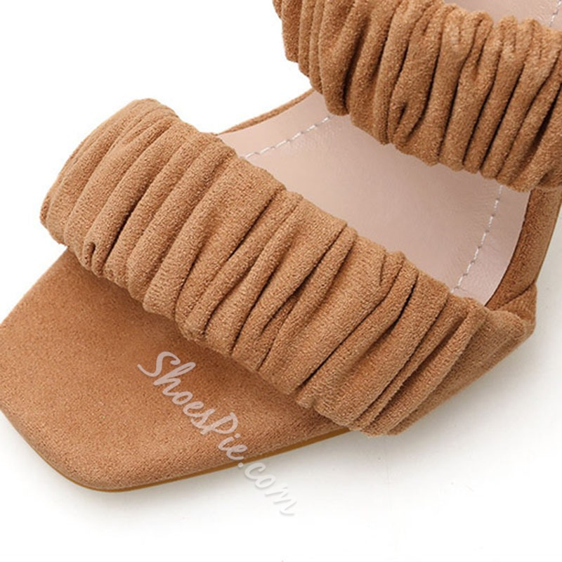 Shoespie Trendy Chunky Heel Slip-On Western Slippers