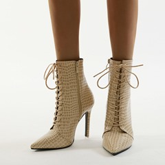 Shoespie Sexy Plain Side Zipper Pointed Toe Fashion Boots