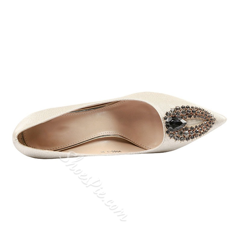Shoespie Sexy Stiletto Heel Slip-On Pointed Toe Banquet Thin Shoes