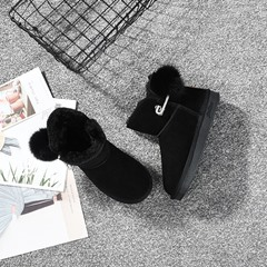 Shoespie Sexy Slip-On Round Toe Plain Thread Boots