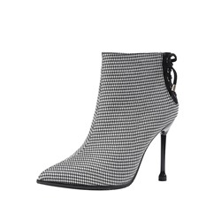 Shoespie Sexy Lace-Up Back Pointed Toe Stiletto Heel Boots