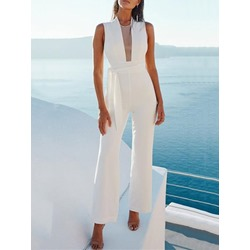 Plain Sweet Full Length Slim Women's Jumpsuit