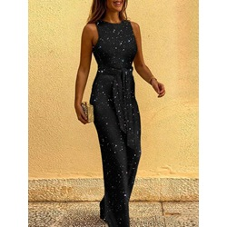 Casual Full Length Backless Straight Women's Jumpsuit