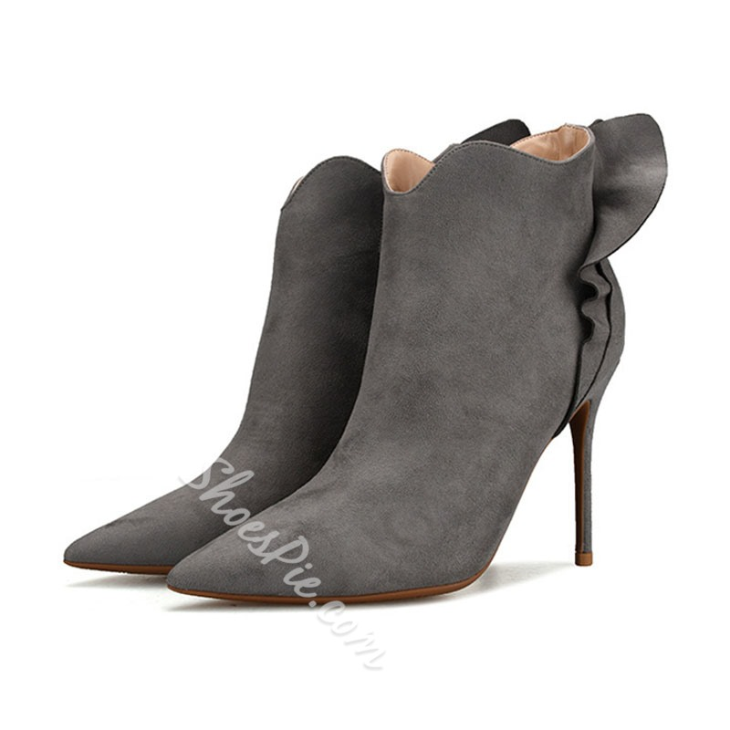 Shoespie Stylish Stiletto Heel Pointed Toe Zipper Ankle Boots