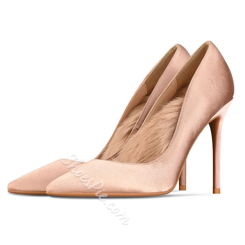 Shoespie Trendy Stiletto Heel Pointed Toe Thread Thin Shoes