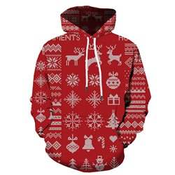 Pullover Print Casual Winter Hoodies