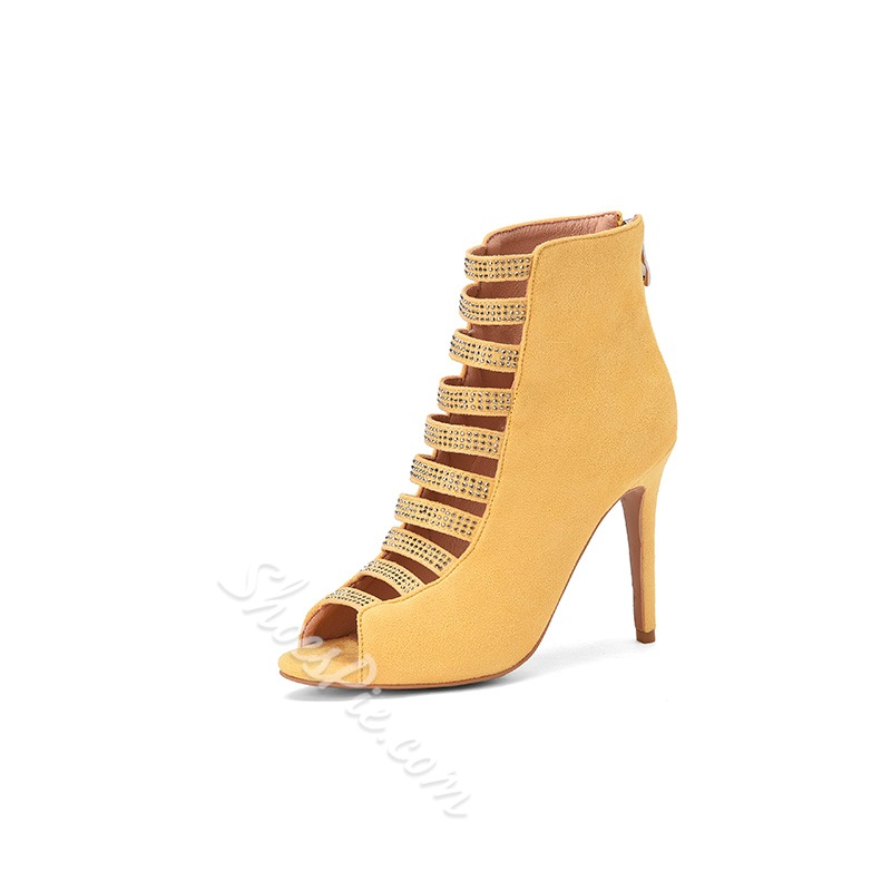 Shoespie Sexy Open Toe Zipper Sandals