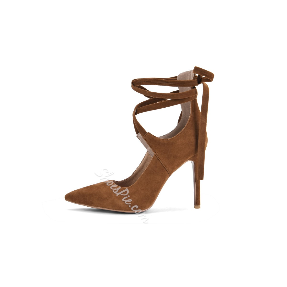 Shoespie Stylish Pointed Toe Lace-Up Stiletto Heels