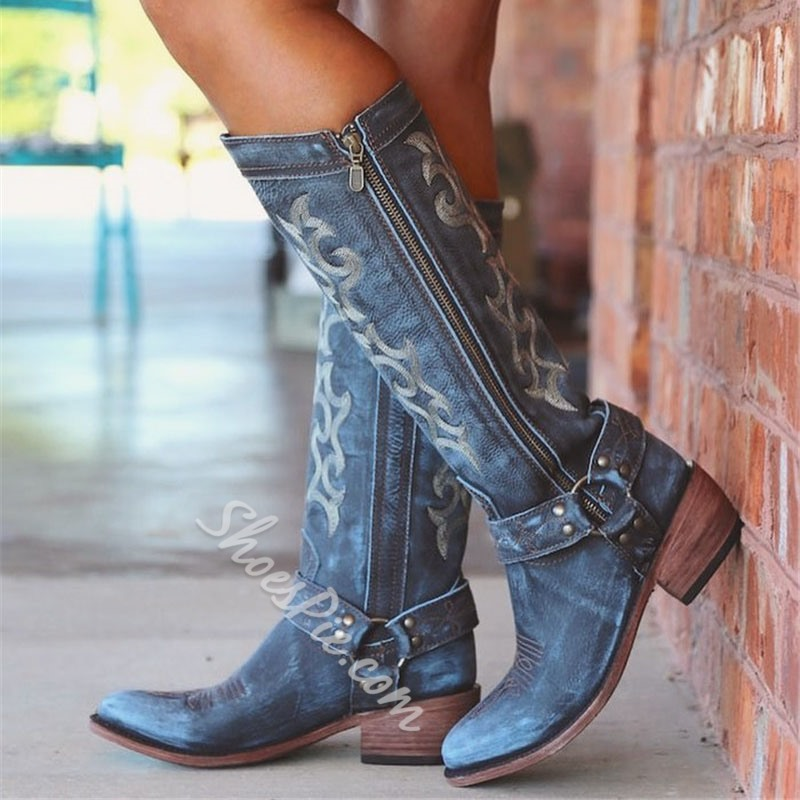 Shoespie Vintage Side Zipper Casual Boots