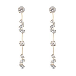 Diamante Sweet Plain Holiday Earrings