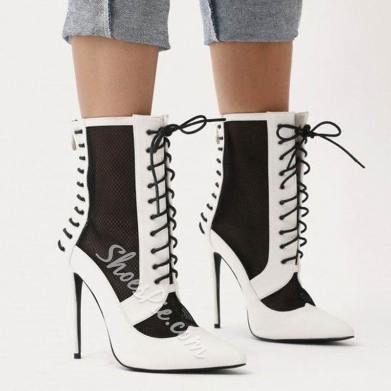 Shoespie Sexy Cross Strap Pointed Toe Stiletto Heel Casual Boots