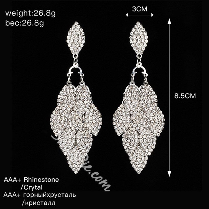 Rhinestone Romantic Diamante Anniversary Earrings