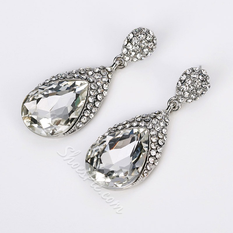 Diamante Rhinestone Holiday Earrings