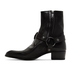 Shoespie Men's Pointed Toe Plain Side Zipper Boots