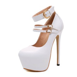 Shoespie Stylish Thread Stiletto Heel Round Toe Plain Thin Shoes