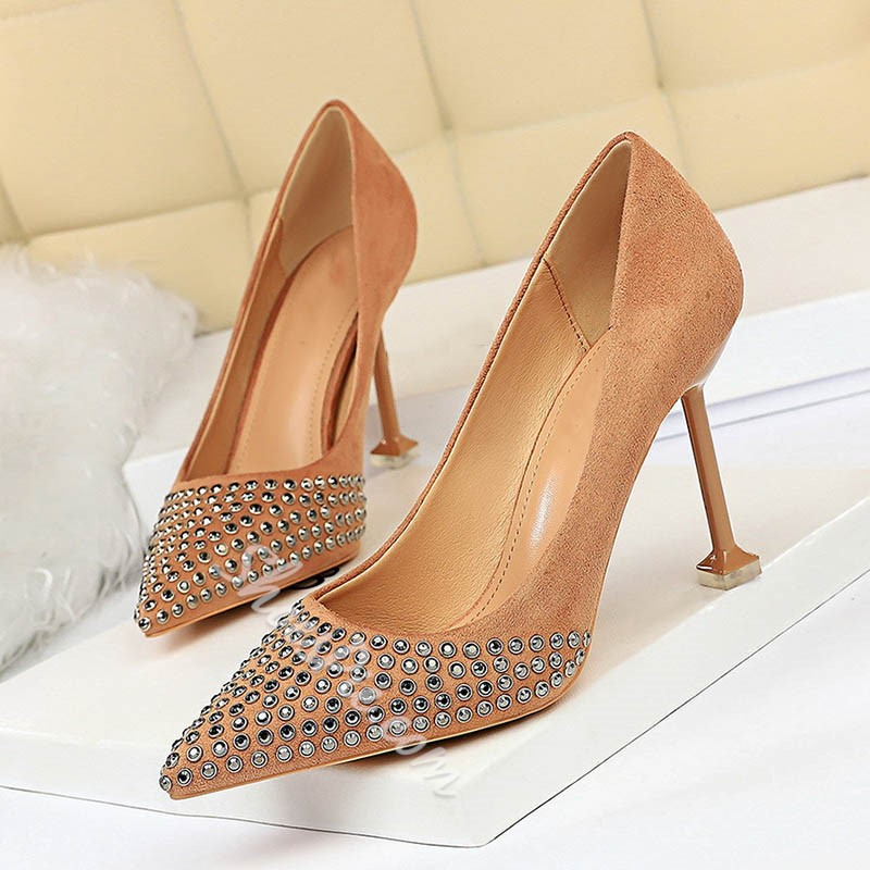 Shoespie Stylish Stiletto Heel Pointed Toe Slip-On Banquet Thin Shoes