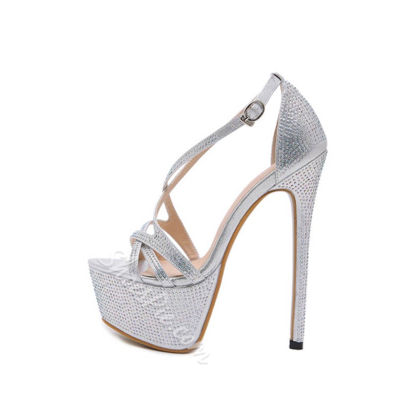 Shoespie Sexy Stiletto Heel Heel Covering Round Toe Sexy Sandals