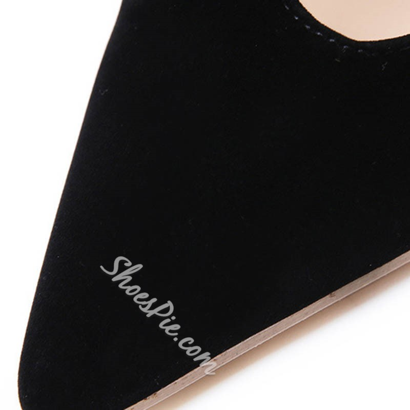 Shoespie Stylish Pointed Toe Zipper Stiletto Heel Casual Thin Shoes