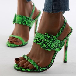 Shoespie Sexy Stiletto Heel Open Toe Line-Style Buckle Casual Sandals