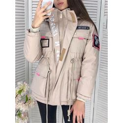 Straight Pocket Thick Mid-Length Women's Cotton Padded Jacket