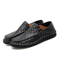 Shoespie Men's Low-Cut Upper Plain Slip-On Round Toe Loafers