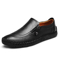 Shoespie Men's Plain Low-Cut Upper Zipper Microfiber Thin Shoes