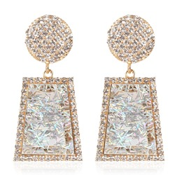 Diamante European Alloy Birthday Drop Earrings