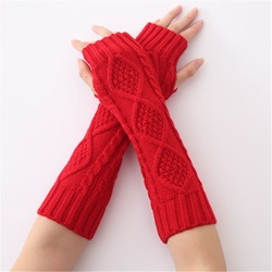 Plain Casual Acrylic Winter Gloves