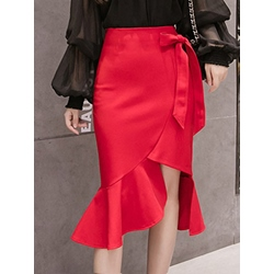 Split Mermaid Plain Casual Women's Skirt