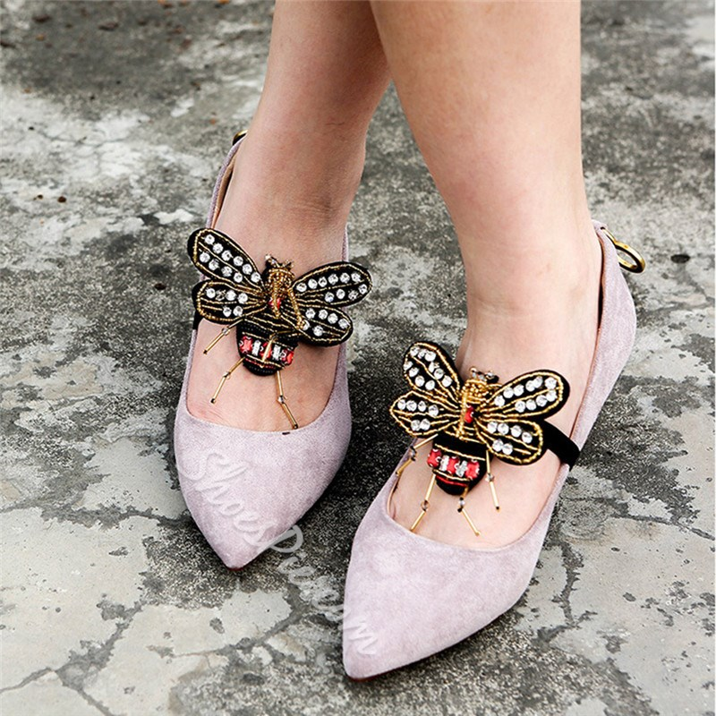 Handmade Fashion Rhinestone Dragonfly Shoes Accessories