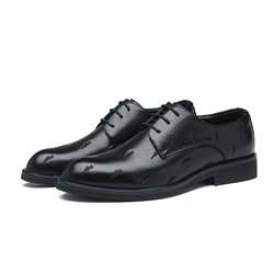 Shoespie Men's Lace-Up Low-Cut Upper PU Leather Oxfords