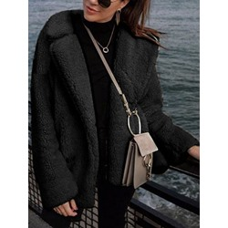 Casual Regular Straight Winter Women's Overcoat