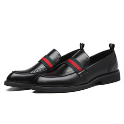 Shoespie Men's Color Block Low-Cut Upper PU Oxfords