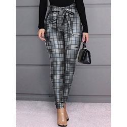 Bowknot Slim Pencil Pants Women's Casual Pants