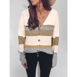 Plus Size Regular Single-Breasted Regular Women's Sweater