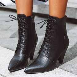 Shoespie Stylish Side Zipper Pointed Toe Casual Boots