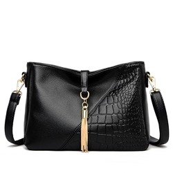 Shoespie PU Alligator Thread Rectangle Crossbody Bags