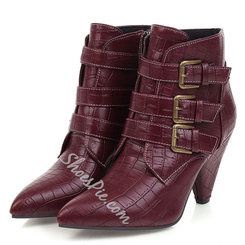Shoespie Sexy Side Zipper Plain Pointed Toe Thread Boots