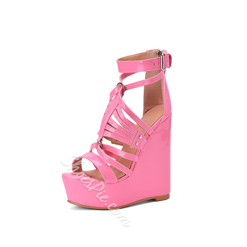 Shoespie Trendy Buckle Open Toe Sandals
