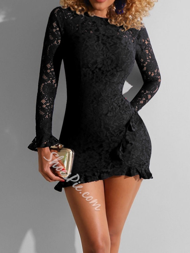 Stringy Selvedge Round Neck Above Knee Date Night/Going Out Women's Dress