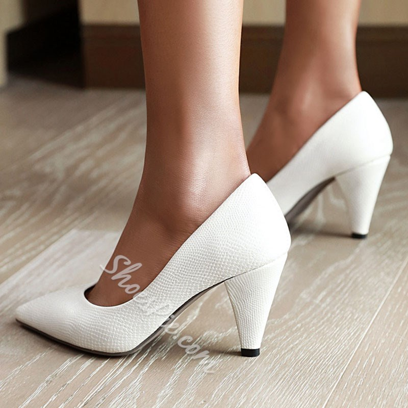 Shoespie Trendy Pointed Toe Slip-On Thread Casual Thin Shoes