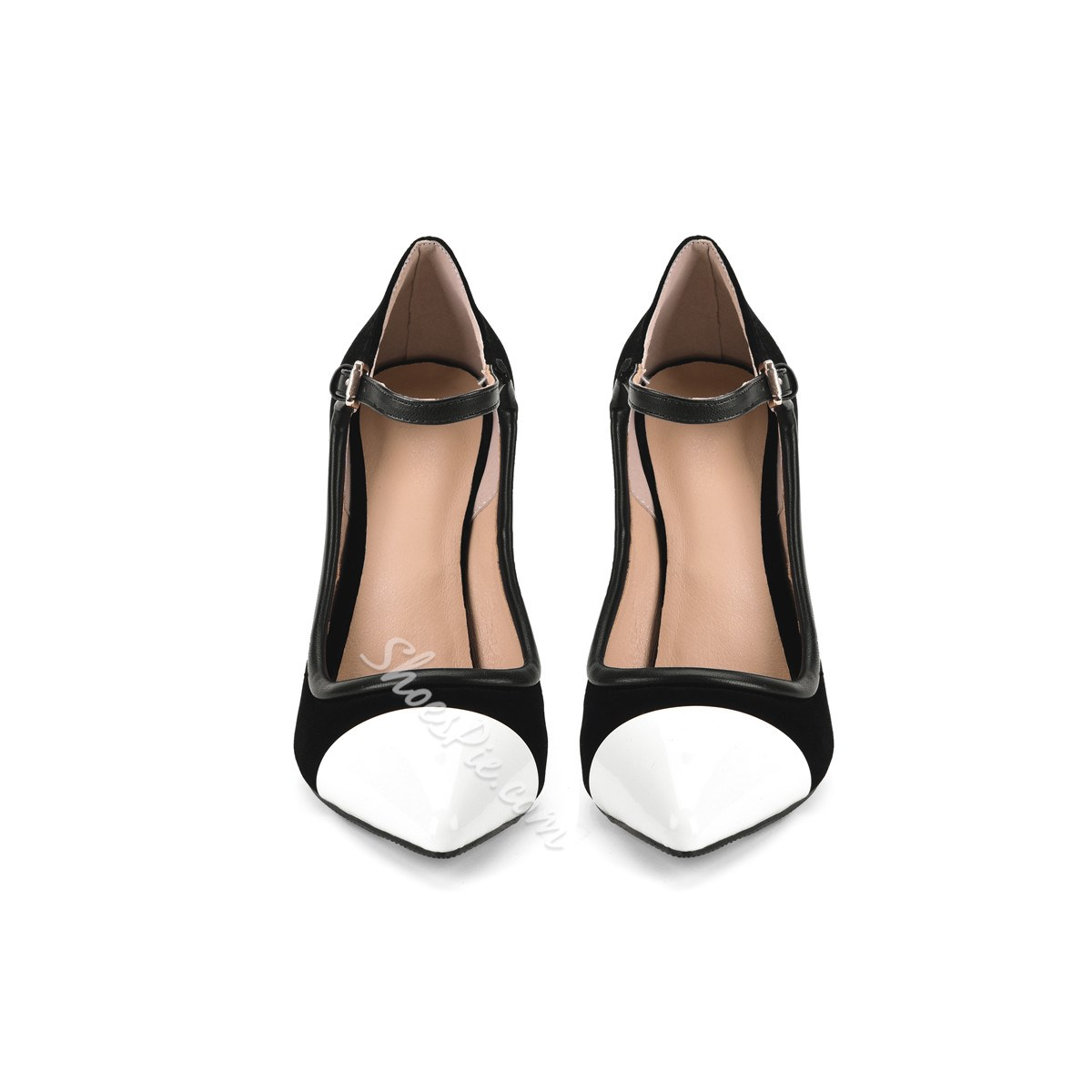 Shoespie Stylish Pointed Toe Slip-On Ultra-High Heel Thin Shoes