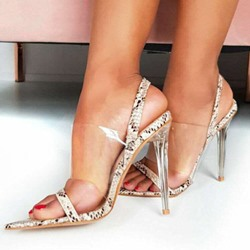 Shoespie Trendy Slip-On Open Toe Stiletto Heel Thread Sandals
