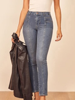 Plain Pencil Pants Slim High Waist Women's Jeans