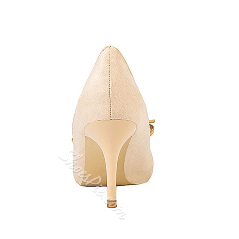 Shoespie Sexy Thread Pointed Toe Buckle Sweet Thin Shoes