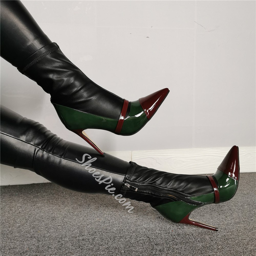 Shoespie Stylish Pointed Toe Side Zipper Fashion Ankle Boots